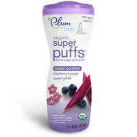 Plum Organics, Super Puffs, Fruit & Veggie Grain Puffs, Blueberry & Purple Sweet Potato