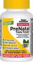 Super Nutrition, Simply One, PreNatal Triple Power