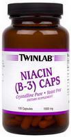 Twinlab, Niacin ( B-3 ) Caps, 1000 mg, 100 Capsules